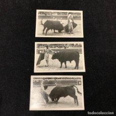 Postales: TOROS - 3 TARJETAS POSTALES FOTOGRAFICAS - ANTONIO DOS SANTOS - LISBOA - 1952. Lote 196200447