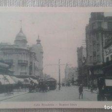 Postales: POSTAL BUENOS AIRES. CALLE RIVADAVIA. A 74. TALLERES PEUSER.. Lote 196876501