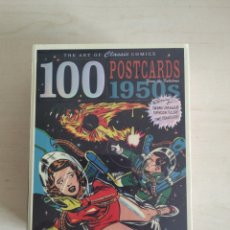 Postais: 100 POSTALES CAJA SIN ABRIR THE ART OF CLASSIC COMICS 100 POSTCARDS FROM THE FABULOUS 1950'S. Lote 197645861