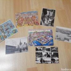 Postales: POSTALES BARCELONA.. LOTE DE 6+1 DE FRANCIA.... Lote 198084743