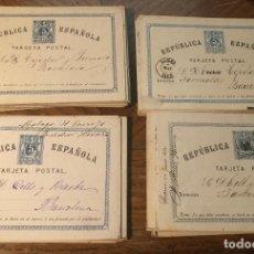 Postales: 78 ENTEROS POSTALES DE LA PRIMERA REPUBLICA ESPAÑOLA. CIRCA 1873-1875.. Lote 198486175