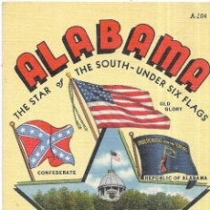 Postales: == PW11 - POSTAL - ALABAMA - THE STAR OF THE SOUTH - SIN CIRCULAR. Lote 198883498