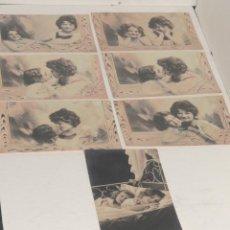 Postales: LOTE DE 7 TARJETAS POTAL - NIÑAS. Lote 199655725