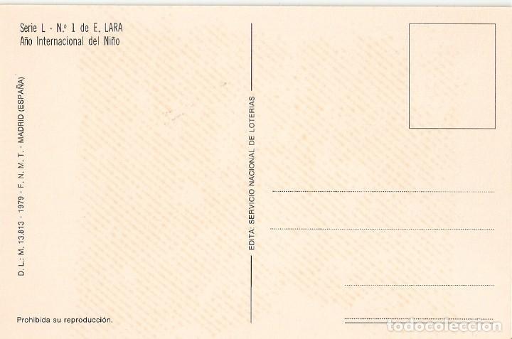 Postales: POSTAL LOTERIA NACIONAL 1979 - SERIE L - Nº 1 - Foto 2 - 199712472