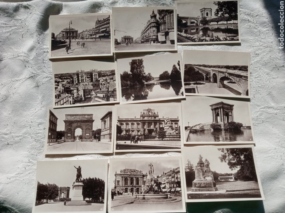 Postales: Lote antiguas pequeñas postales a identificar.españa.turismo.sxix.francia.belgica.viajes. - Foto 2 - 199898432