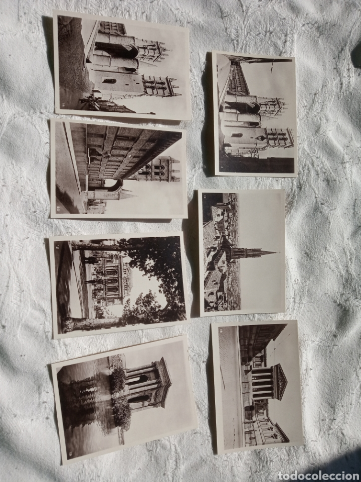 Postales: Lote antiguas pequeñas postales a identificar.españa.turismo.sxix.francia.belgica.viajes. - Foto 3 - 199898432