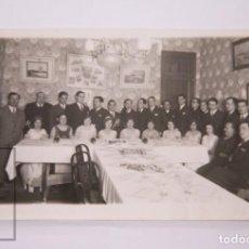Postales: ANTIGUA POSTAL FOTOGRÁFICA - BANQUETE / CENA DE GALA, AÑOS 20-30 - NIEPCE - SIN CIRCULAR. Lote 204238687