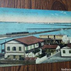 Postales: EST 5. PO96. TARJETA POSTAL. SUEZ. GENERAL VIEW OF PORT TEWFIK. 1922. Lote 204674150