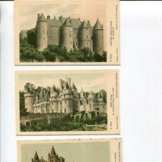 Postales: 10 POSTALES ANTIGUAS DE CASTILLOS FRANCESES. Lote 205235590