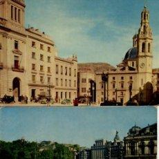 Postales: LOTE DE 3 POSTALES ANTIGUAS: BILBAO - SEGOVIA - ALCOY. Lote 205457783