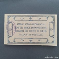 Postales: ARMAS Y OTROS OBJETOS DE LA EDAD DEL BRONCE - EXTRAIDOS EN LOS DRAGADOS DEL PUERTO DE HUELVA - 14 TA. Lote 205573615