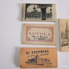 Postales: LOTE FOTOS MINIATURAS,BURGOS,EL ESCORIAL,SALAMANCA Y LOYOLA. Lote 205706828