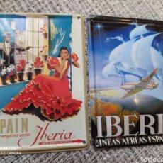 Postales: 2 POSTALES METÁLICAS IBERIA COLECTABLE TIN CARD. Lote 205709721