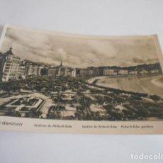 Postales: ANTIGUA POSTAL - SAN SEBASTIAN . JARDINES - ESCRITA. Lote 206375515