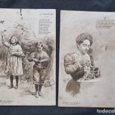 Postales: 2 POSTALES 1902. Lote 206380752