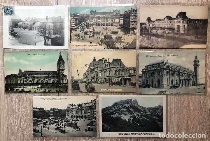 Postales: 17 POSTALES ANTIGUAS TEMA ESTACIONES DE TRENES - Foto 2 - 206381623