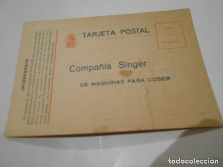 POSTAL PUBLICITARIA DE DE MAQUINAS SINGER AÑOS 20 (Postales - Varios)