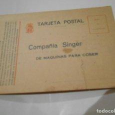 Postales: POSTAL PUBLICITARIA DE DE MAQUINAS SINGER AÑOS 20. Lote 206405218