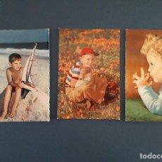 Postales: 3 POSTALES DE NIÑOS, AÑOS 50/60, ESCRITAS. Lote 206564726