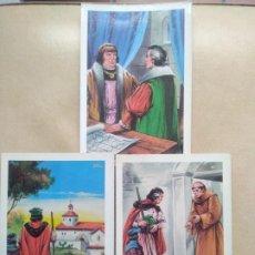 Postales: LOTE DE 3 POSTALES CRISTOBAL COLON. Lote 206880541