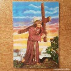 Postales: POSTAL EN RELIEVE CRISTO CON LA CRUZ. Lote 208129655