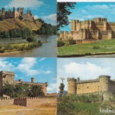 Cartoline: 4 POSTALES CASTILLOS DE ESPAÑA: DE LA SEGURA CACERES - ALBURQUERQUE - ALBERCHE TOLEDO - COCA SEGOVIA. Lote 209245430