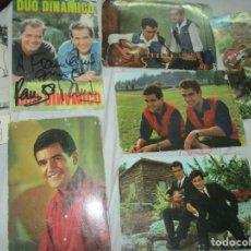 Postales: COLECCION DE 6 POSTALES ANTIGUAS DUO DINAMICO UNA FIRMADA DEDICADA A CANO FOTOGRAFO DE ALICANTE. Lote 209608850