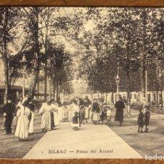 Postales: BILBAO, PASEO DEL ARENAL. POSTAL SIN CIRCULAR COLECCIÓN BBK Y DEIA.. Lote 209976370