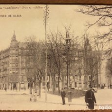 Postales: BILBAO, JARDINES DE ALBIA. POSTAL SIN CIRCULAR COLECCIÓN BBK Y DEIA.. Lote 209976673