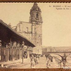 Postales: BILBAO, EL ANTIGUO MERCADO E IGLESIA DE SAN ANTÓN. POSTAL SIN CIRCULAR COLECCIÓN BBK Y DEIA.. Lote 209976837