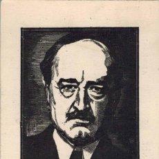 Postales: TARJETA ESCRITOR BLASCO IBAÑEZ. CALMANN-LEVY EDITORES. CIRCULADA 1927. Lote 210524308