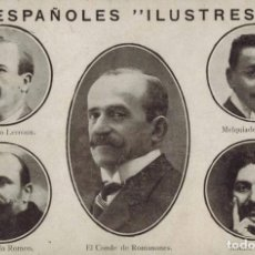 "Postales: TARJETA POSTAL ESPAÑOLES ""ILUSTRES"". CIRCULADA 1917. Lote 210795006"