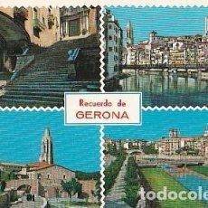 Postales: POSTAL B02513: RECUERDO DE GERONA (ESPAÑA). VARIOS ASPECTOS DE ESTA HISTORICA CIUDAD.. Lote 211446462