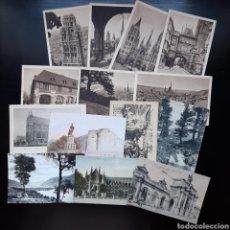 Postales: LOTE 14 POSTALES AÑOS 40 / FRANCIA ROUEN / BRUSELAS / ROMEU / WESTMINSTER LONDRES / ASCONA / ANGERS. Lote 212539386
