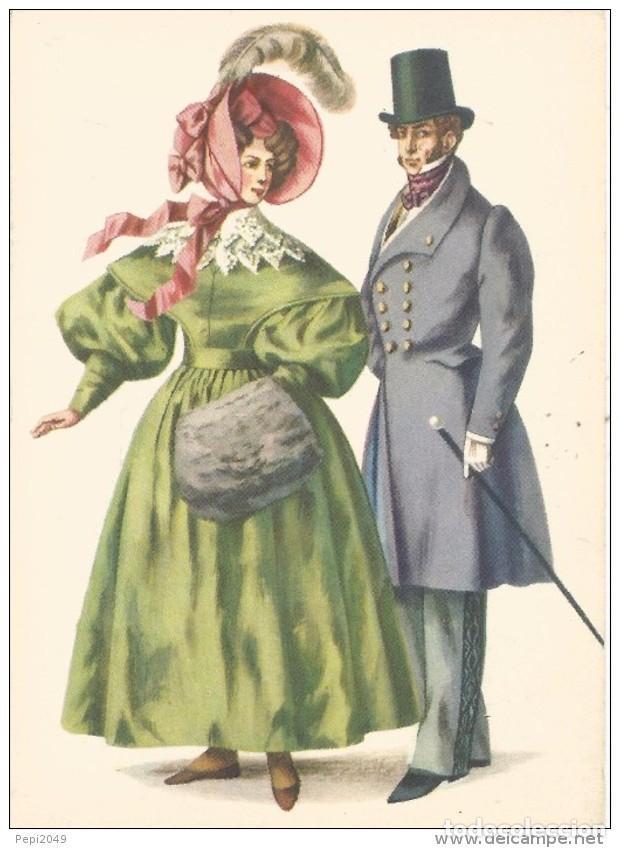 // E274 - POSTAL - COSTUMES D´EPOQUE AUX ENVIRONS DE 1830 (Postales - Varios)