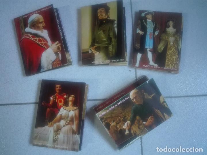 COLECCIÓN 5 DESPLEGABLES DEL MUSEO DE CERA EL QUIJOTE CHE EINSTEIN PAU CASALS - 50 FOTOS 150G (Postales - Varios)
