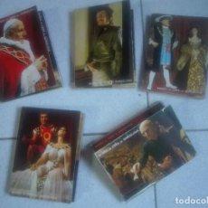 Postales: COLECCIÓN 5 DESPLEGABLES DEL MUSEO DE CERA EL QUIJOTE CHE EINSTEIN PAU CASALS - 50 FOTOS 150G. Lote 213510105