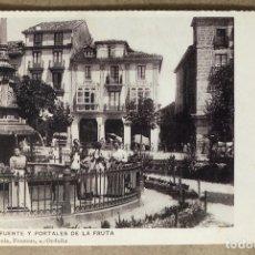 Postales: ORDUÑA: FUENTE Y PORTALES DE LA FRUTA. POSTAL SIN CIRCULAR COLECCIÓN DEIA BBK.. Lote 213667192