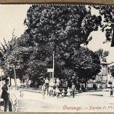 Postales: DURANGO, JARDÍN DE PINONDO. POSTAL SIN CIRCULAR COLECCIÓN DEIA BBK.. Lote 213667511