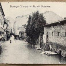 Postales: DURANGO (VIZCAYA), RÍO DEL MATADERO. POSTAL SIN CIRCULAR COLECCIÓN DEIA BBK.. Lote 213667701