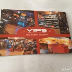 Postales: POSTAL PUBLICIDAD- VIPS. Lote 213700293