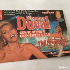 Postales: NORMA DUVAL - PUBLICIDAD. Lote 213701491