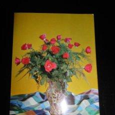 Postales: ANTIGUA POSTAL CON JARRÓN DE ROSAS AÑOS 60S. Lote 213737917