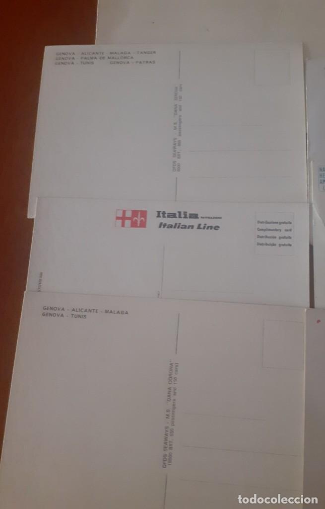 Postales: Lote de 7 postales de cruceros años 70 sin usar - Foto 2 - 214975411
