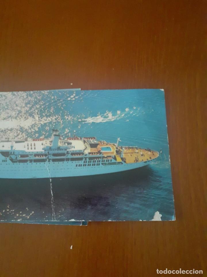 Postales: Lote de 7 postales de cruceros años 70 sin usar - Foto 3 - 214975411