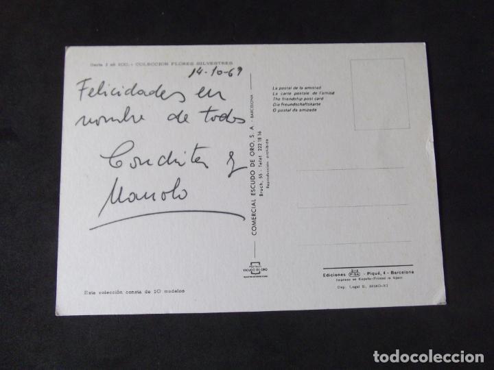 Postales: FLORES-DF1-ESCRITA-FLOWERS-FLEURS-FIOR - Foto 2 - 217958333
