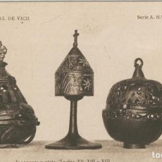 Postales: POSTAL 010263: VICH: MUSEO EPISCOPAL: INCENSERS Y PIXIS. Lote 218646756