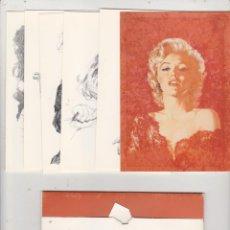 Postales: JOSÉ GONZÁLEZ. 6 POSTALES DE MARILYN MONROE. EN SU CARPETILLA. Lote 218657322