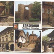 Postales: POSTAL JC0897: PUEBLO ESPAÑOL. DIVERSOS ASPECTOS. Lote 218972356