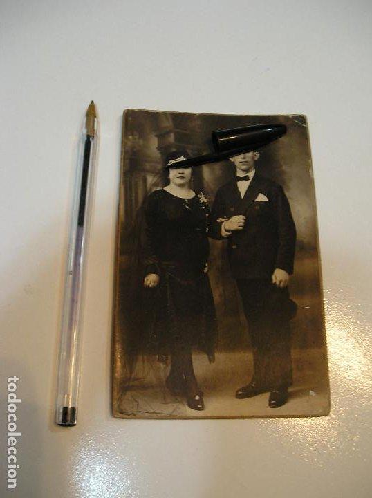 Postales: ANTIGUA TARJETA POSTAL CARTON MATRIMONIO FOTO ALEJANDRO QUILES CATARROJA (20-10-2) - Foto 4 - 221432245